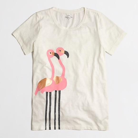 f62faf11 J. Crew Factory Tops   Jcrew Flamingo Collector Tshirt   Poshmark